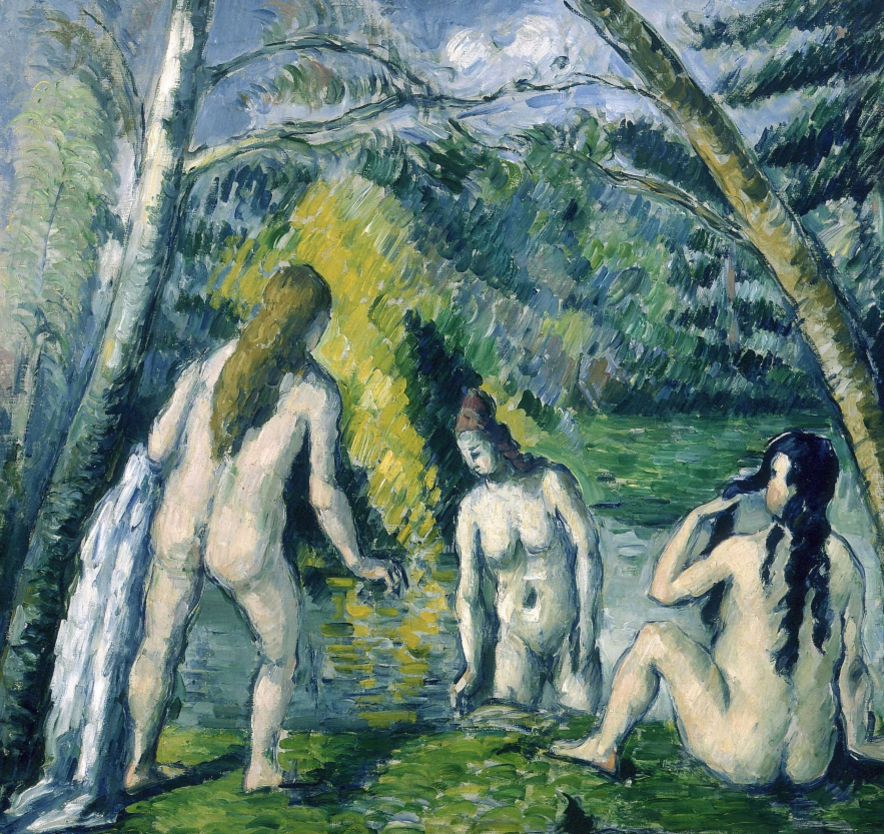 The  Three Bathers by   Paul Cézanne