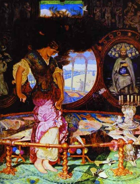 William Holman Hunt -The Lady of Shalott