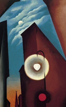 New York Street with Moon , 1925 - Georgia O'Keeffe
