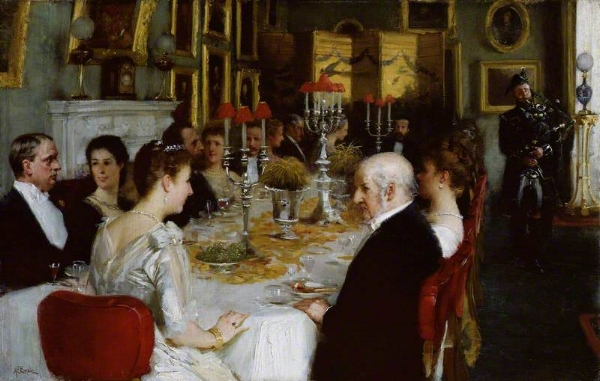 Dinner at Haddo House 1884 by Alfred Edward Emslie - National Portrait Gallery, London