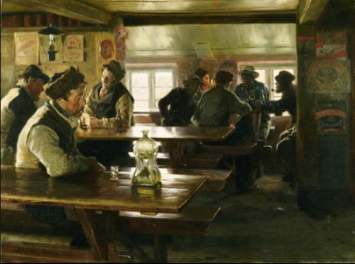 Peder Severin Kroyer - Interior of a Tavern (1886)