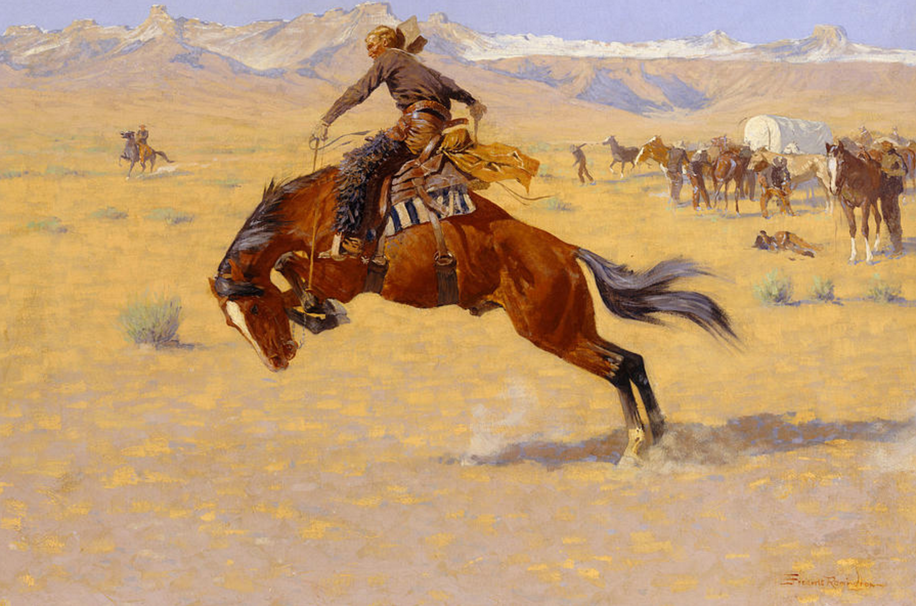 Frederic Remington 'A Cold Morning on the Range'