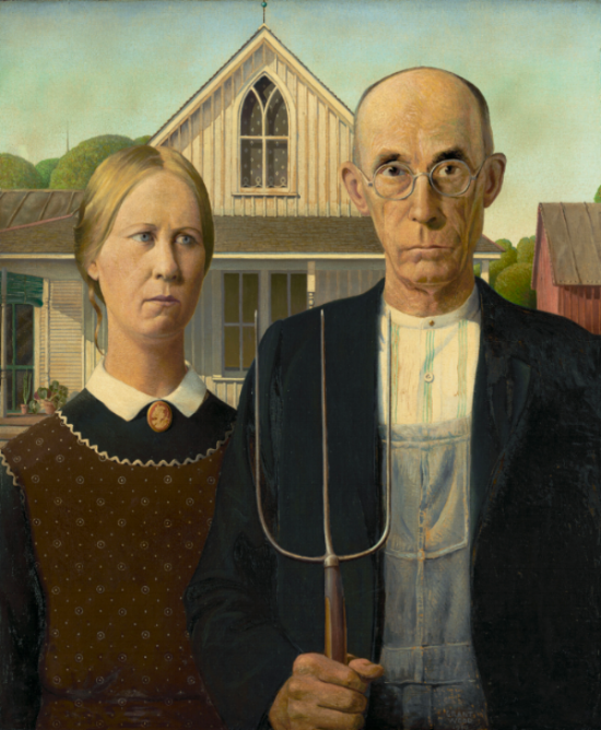 Grant Wood 'American Gothic'