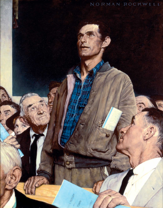 Norman Rockwell 'Freedom of Speech'