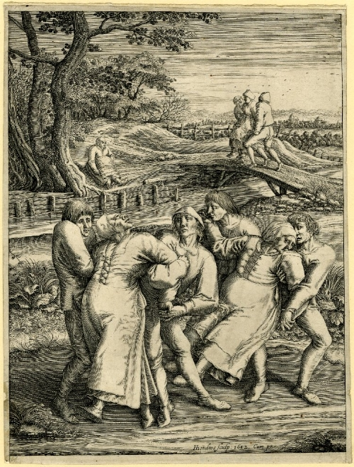 The dancing mania  by Hendrik Hondius. Source: Wellcome Library, London