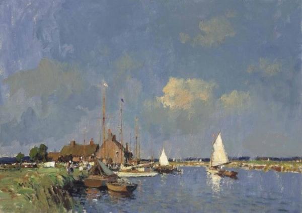 Edward Seago,Summer on the Norfolk Broads