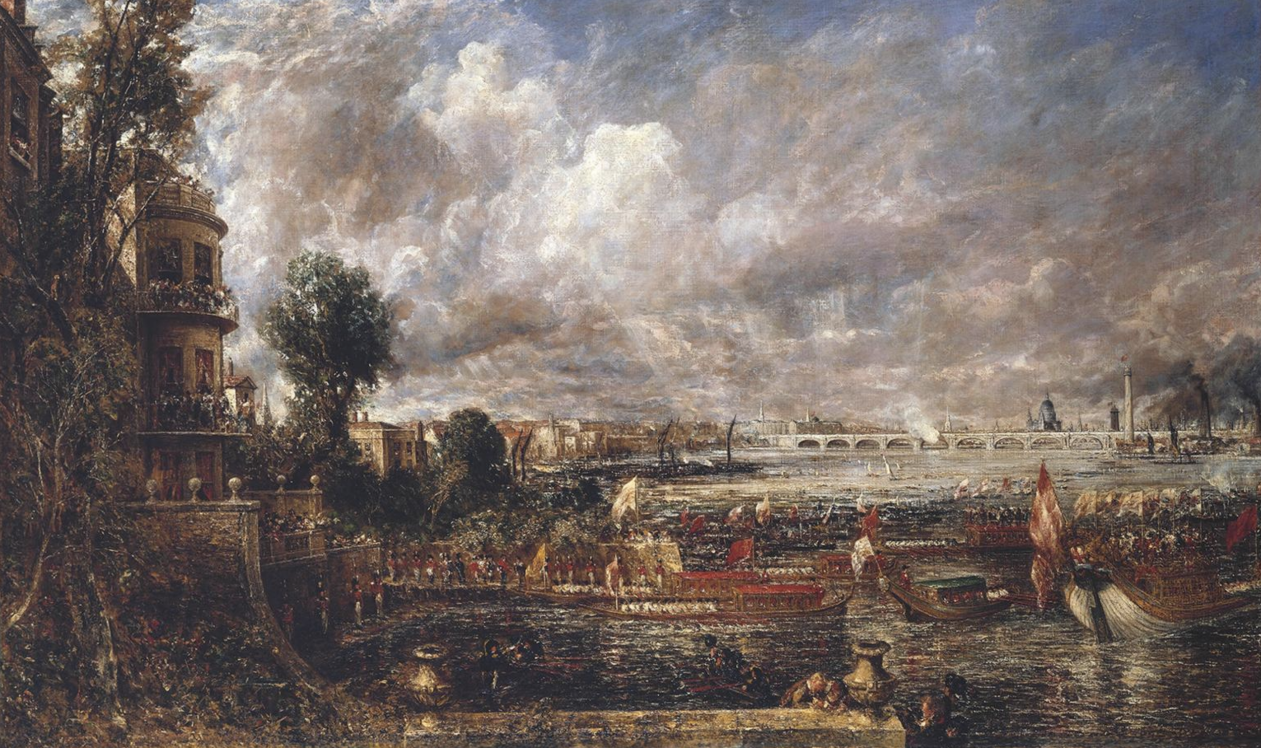 John Constable - The Opening of Waterloo Bridge