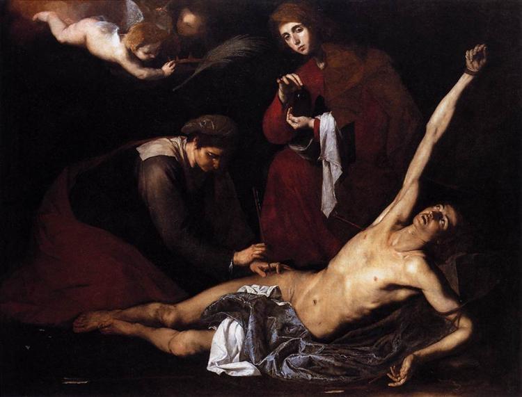 Ribera, Saint Sebastian Tended by the Holy Women