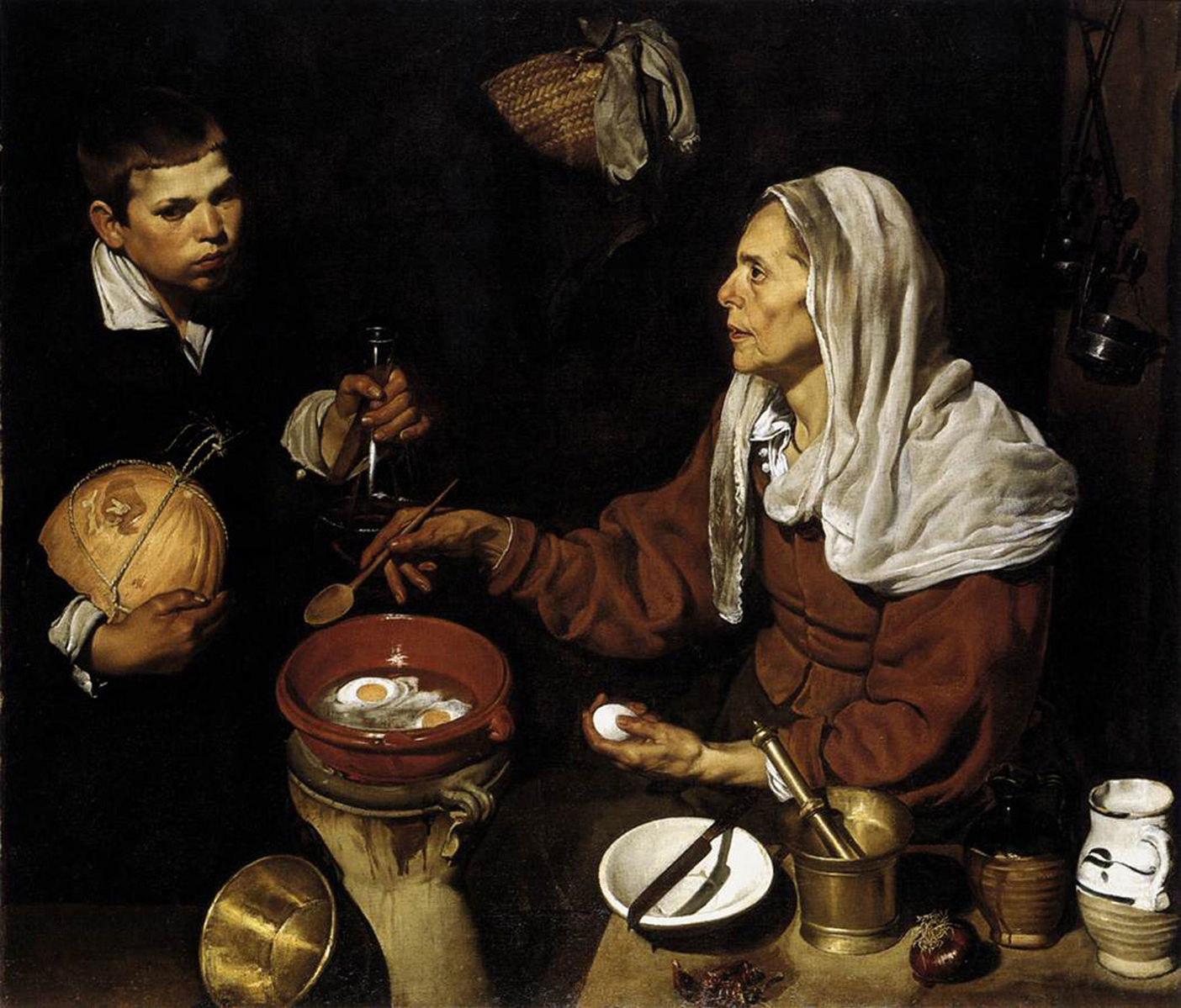 Velazquez, 'An Old Woman Cooking Eggs'