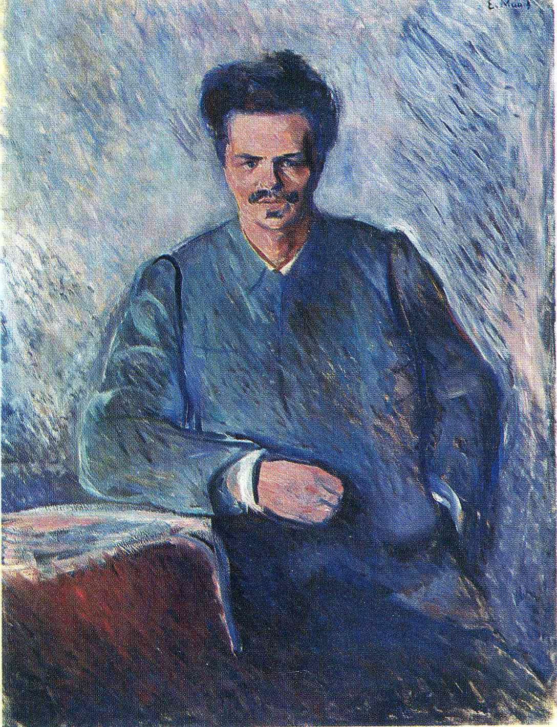 Portrait of Strindberg by Edvard Munch, 1892