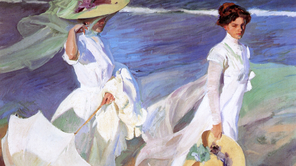 Joaquín Sorolla, Walk On The Beach,  1909