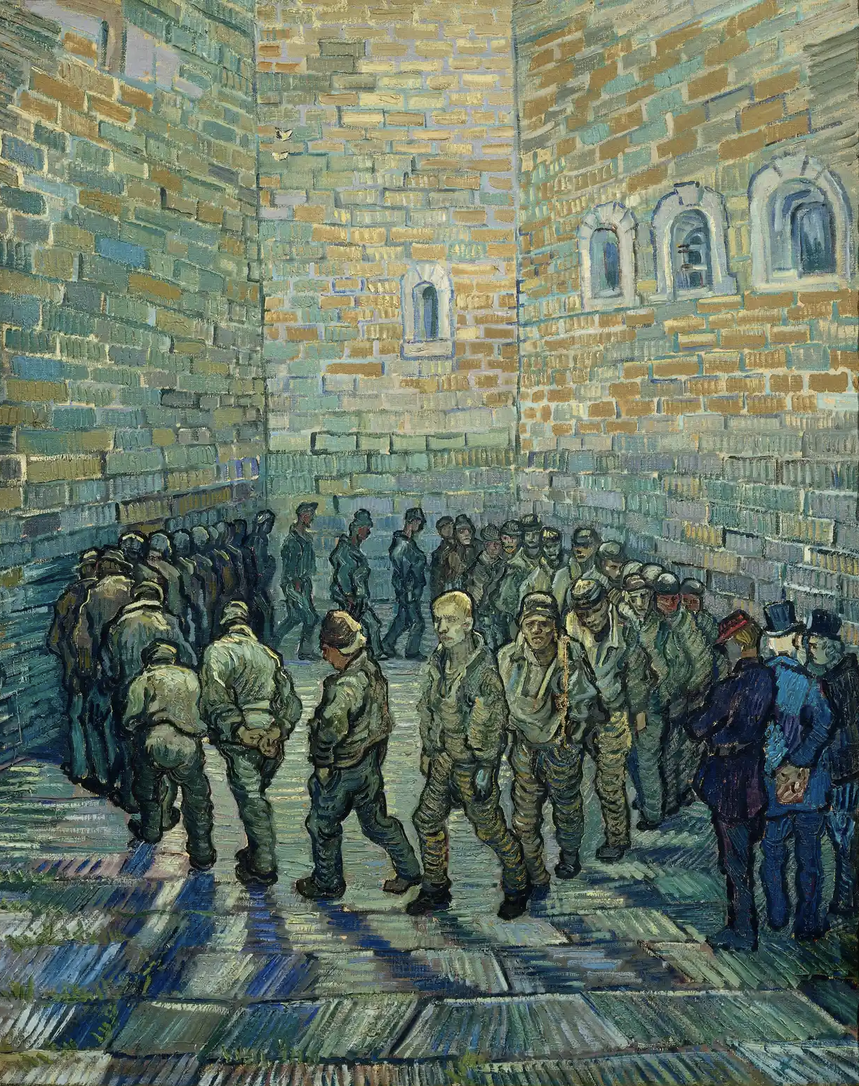 Vincent van Gogh's Prisoners Exercising, 1890 © The Pushkin State Museum of Fine Arts, Moscow
