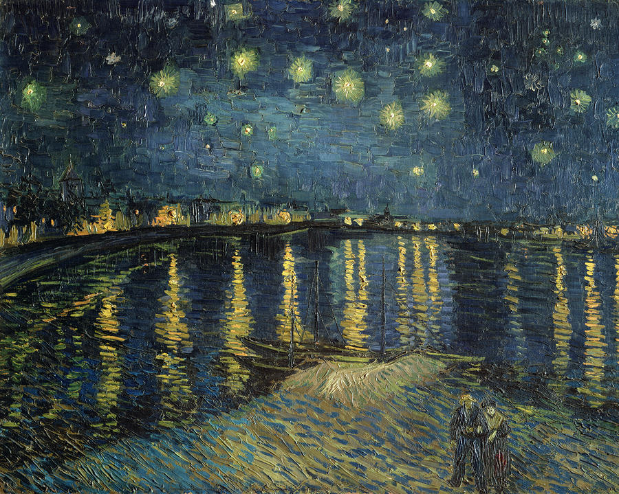 Vincent van Gogh's painting Starry Night Over the Rhône. Photograph: Hervé Lewandowski/RMN-Grand Palais (Musée d'Orsay)