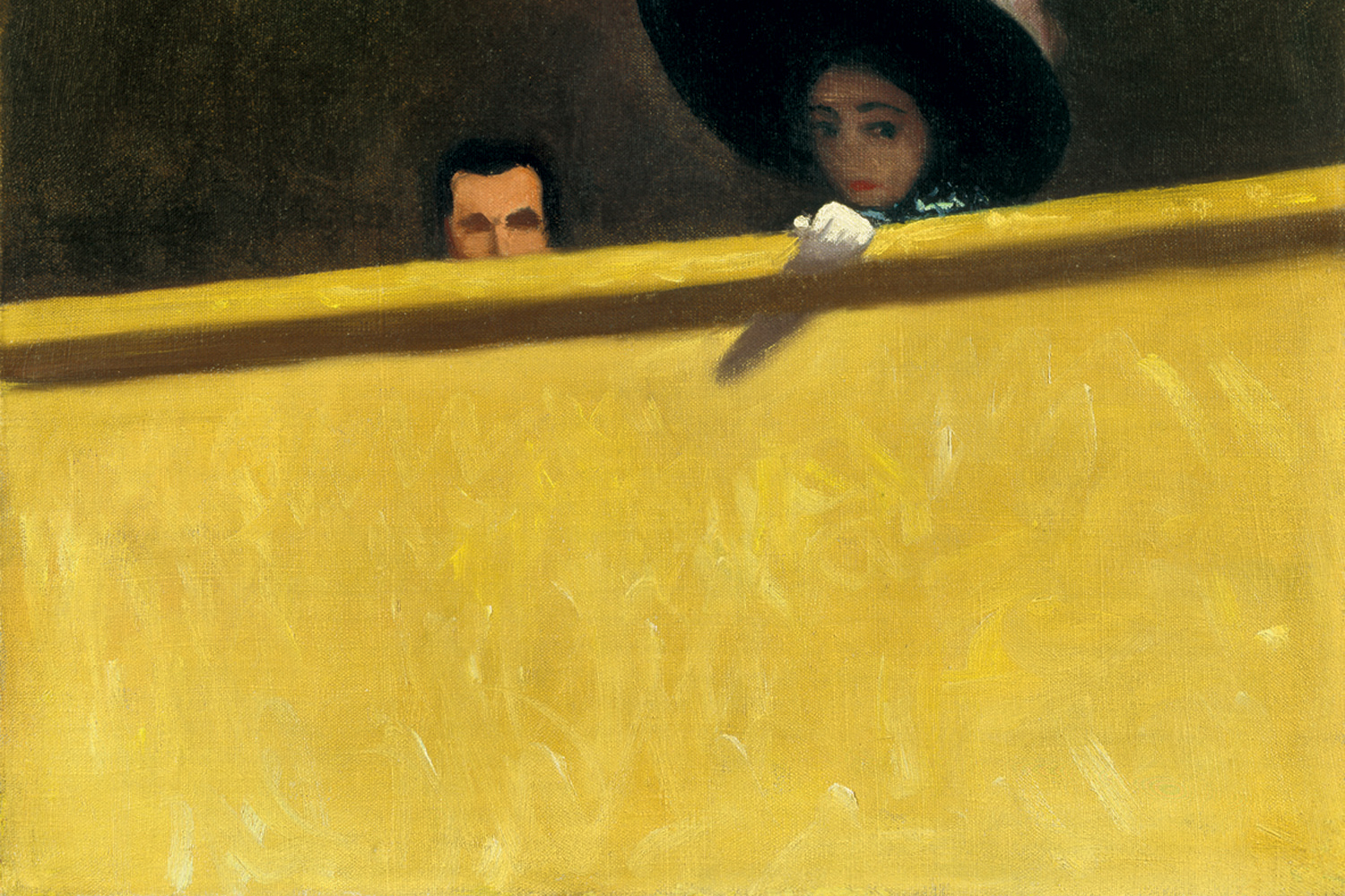 Felix Vallotton - la loge de theatre (detail)