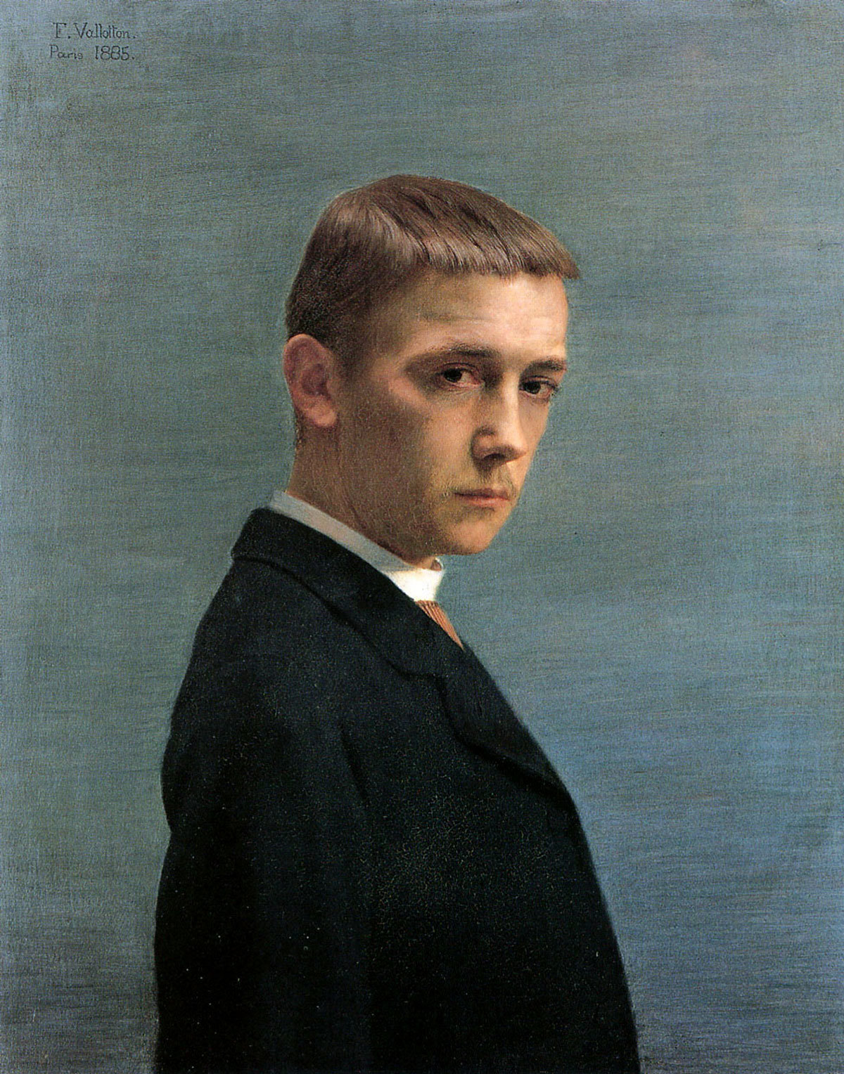Félix Vallotton,  Self-portrait at the Age of Twenty ,  1885