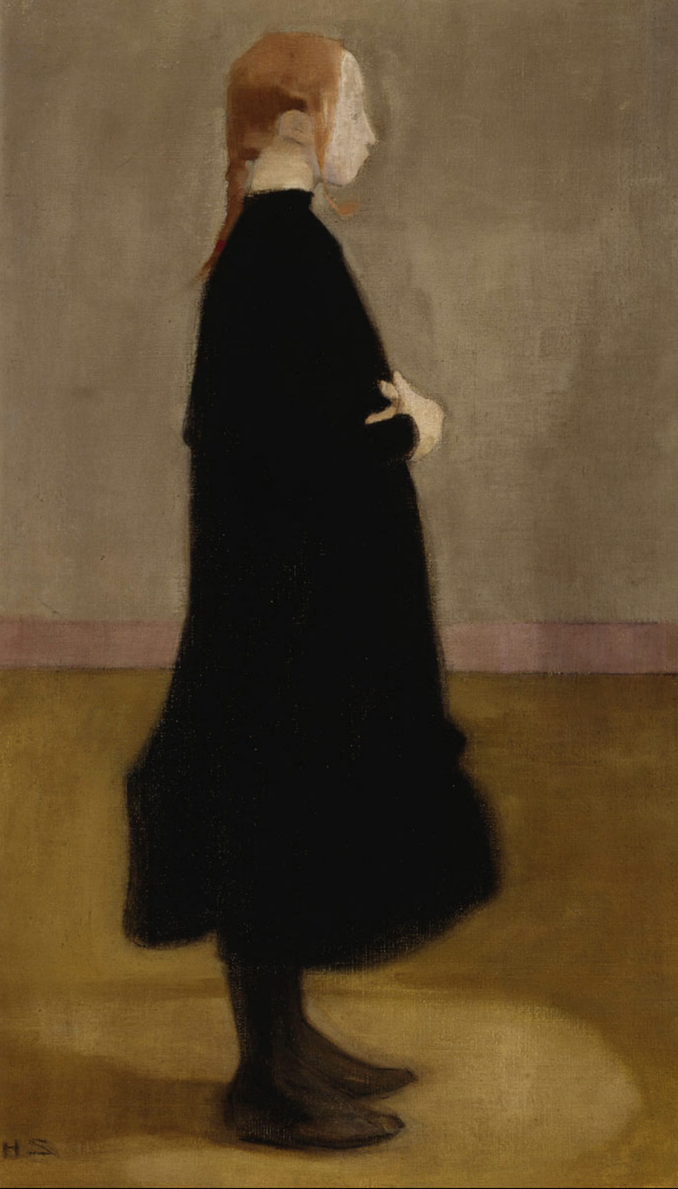 Helene Schjerfbeck - The School Girl II (1908)