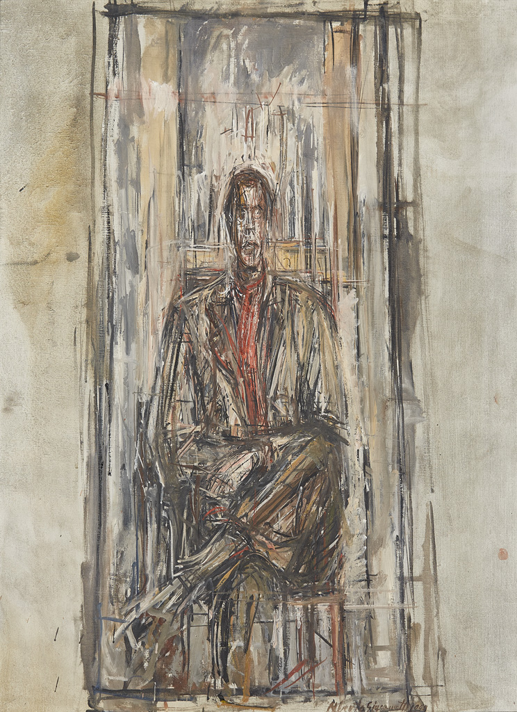 Alberto Giacometti -  Diego Seated , 1948,  oil on canvas