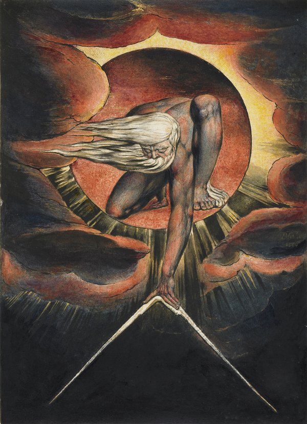 William Blake  'Europe' Plate i: Frontispiece, 'The Ancient of Days'  1827 (?) © The Whitworth, The University of Manchester