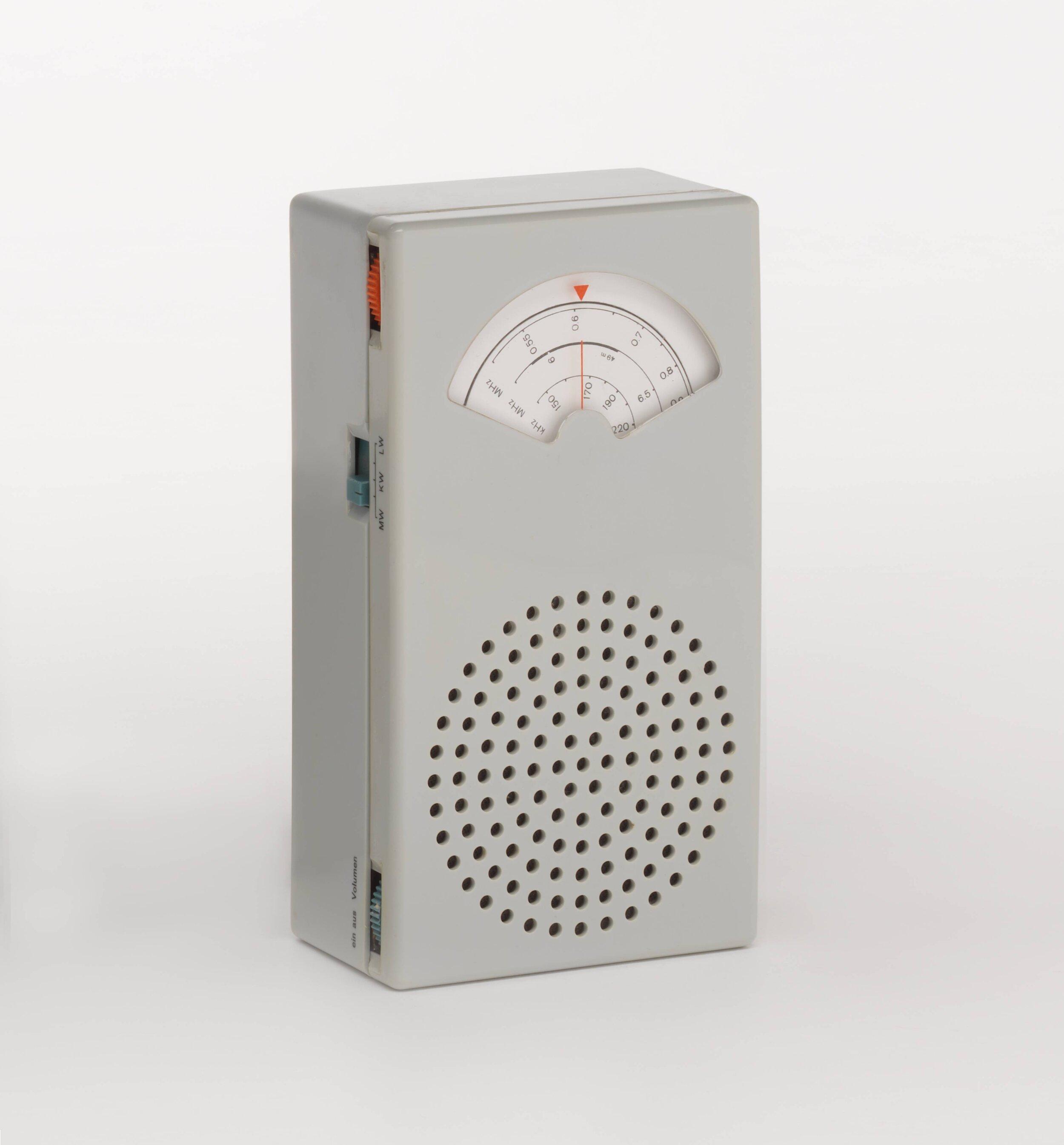 Dieter Rams ,  Braun T 41 long, midwave, and shortwave transistor radio , 1962
