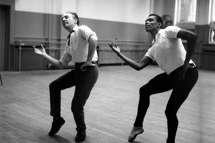 George Balanchine and Arthur Mitchell