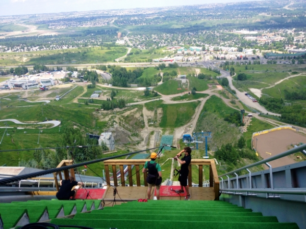 Zip line in Canada.Scariest thing I've ever done but I'm so pleased I did it!#nailedit!