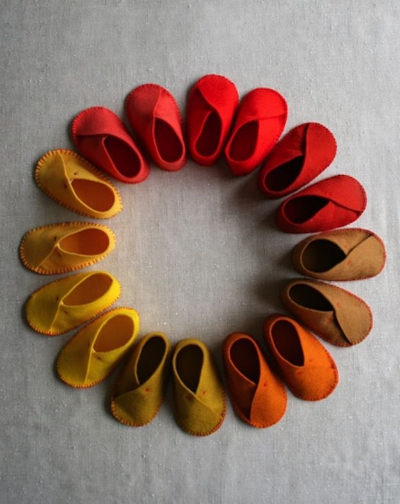 Felted booties by Purl Soho