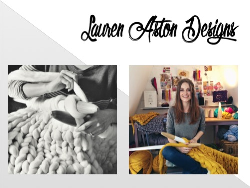 Hi Everyone! I'm Lauren from Lauren Aston Designs. I run my small business from my little loft studio hand knitting super chunky statement pieces for interiors. Today i'm going to talk about