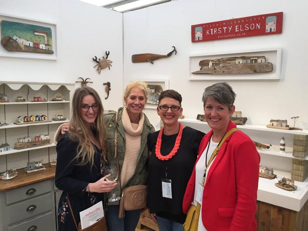 Photo stolen from Helen Bottrill of me being a total fangirl over Amy from  Chambers and Beau,  Helen from  The Creative Business Network  and THE  Kirsty Elson  of Cornish driftwood heaven.