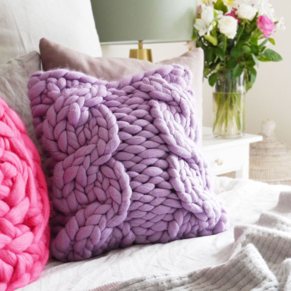 Chunky Cable Knit Cushion