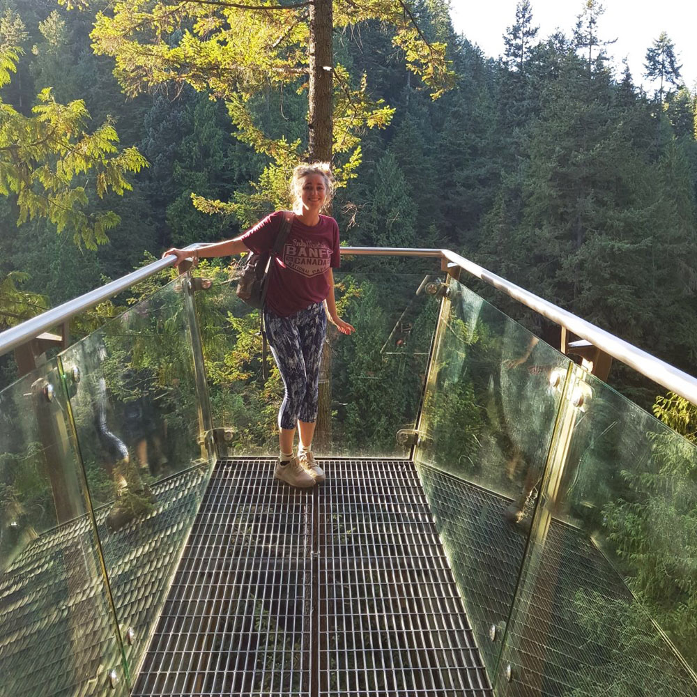 On the Capilano cliff walk - It was VERY high!