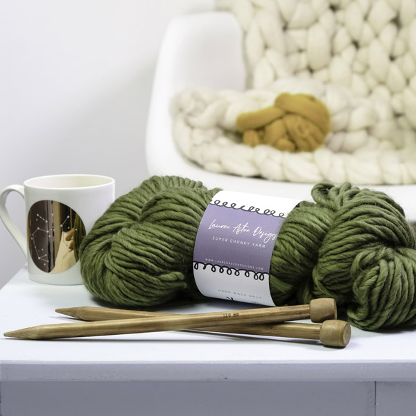 Super Chunky Yarn in Forest