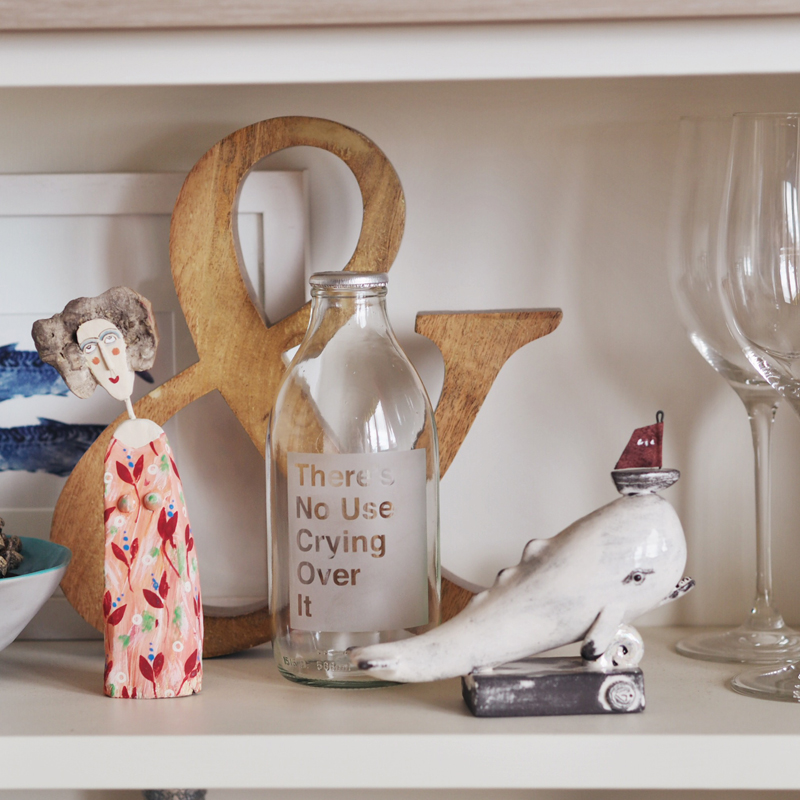 Also - Wooden Lady by Lynn Muir, Ampersand by Nkuku & Ceramic Whale by  Gwen Vaughan