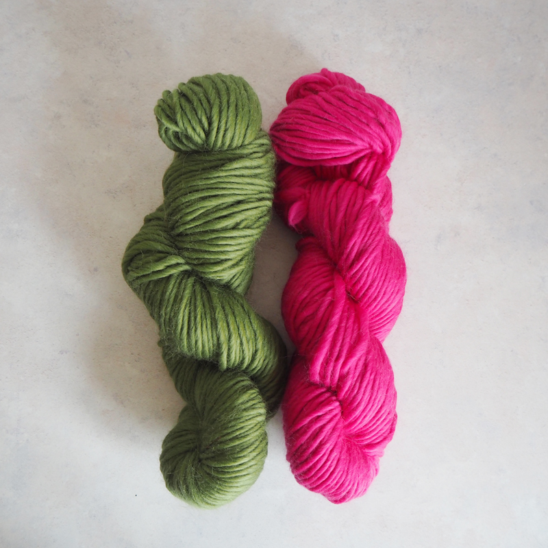 Forest Green and Bright Pink