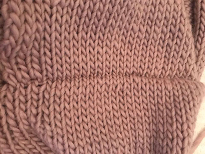"Jenna Bruce's shoulder seams ""Love love love knitting my cardi! Just started sewing it together and having watched the video it's officially the neatest sewing up I've ever done"""