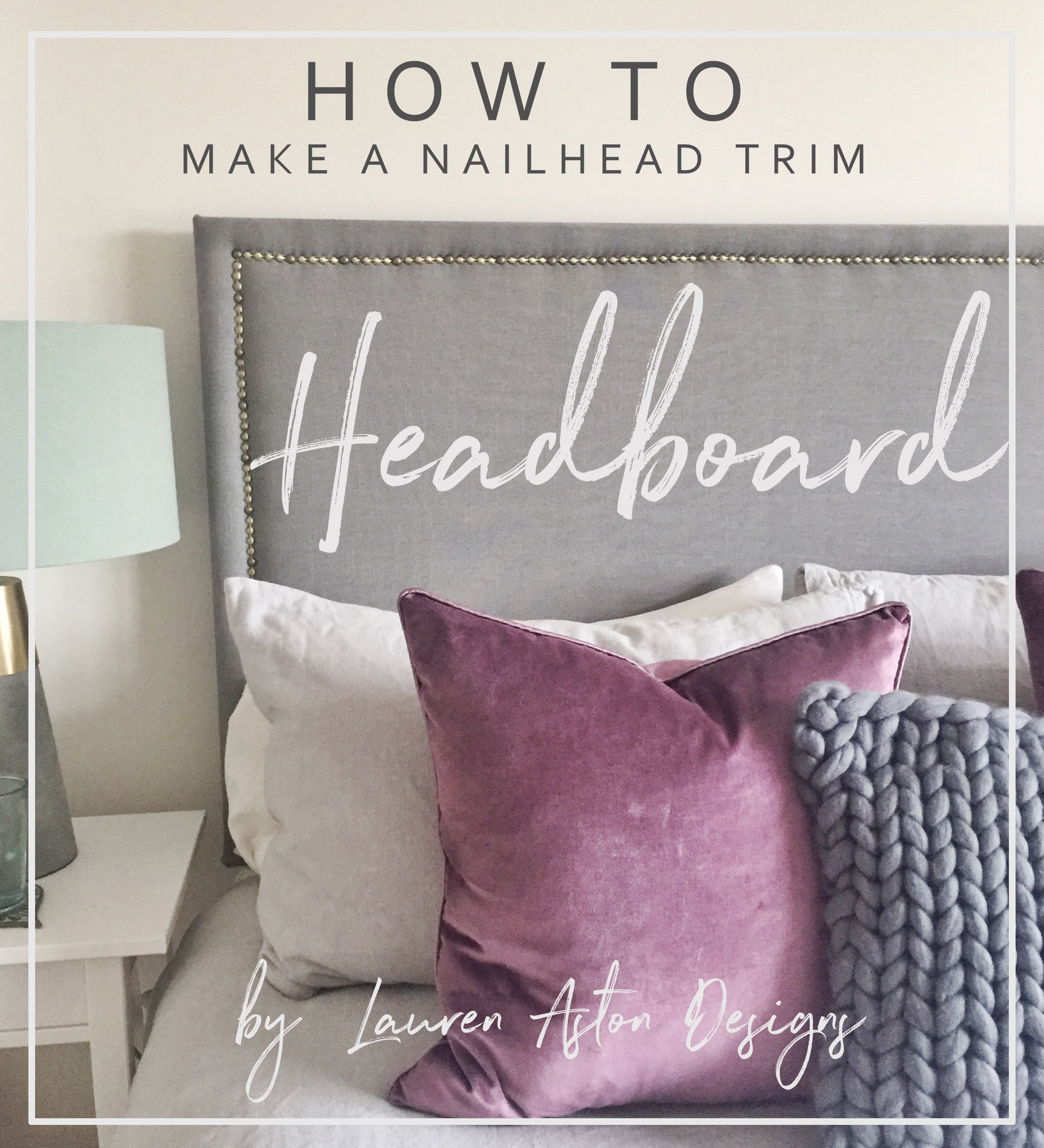 Making a headboard is super easy and you get to use a staple/nail gun...whats not to like?