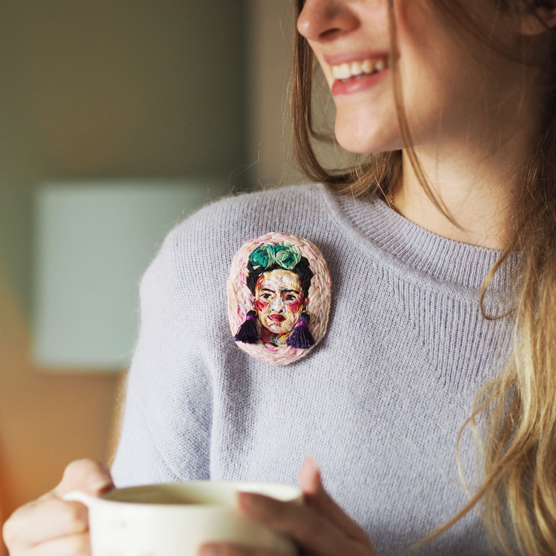 This Frida Brooch is one of Marna's pieces that I got last year. SHE'S SO CLEVER!!!!