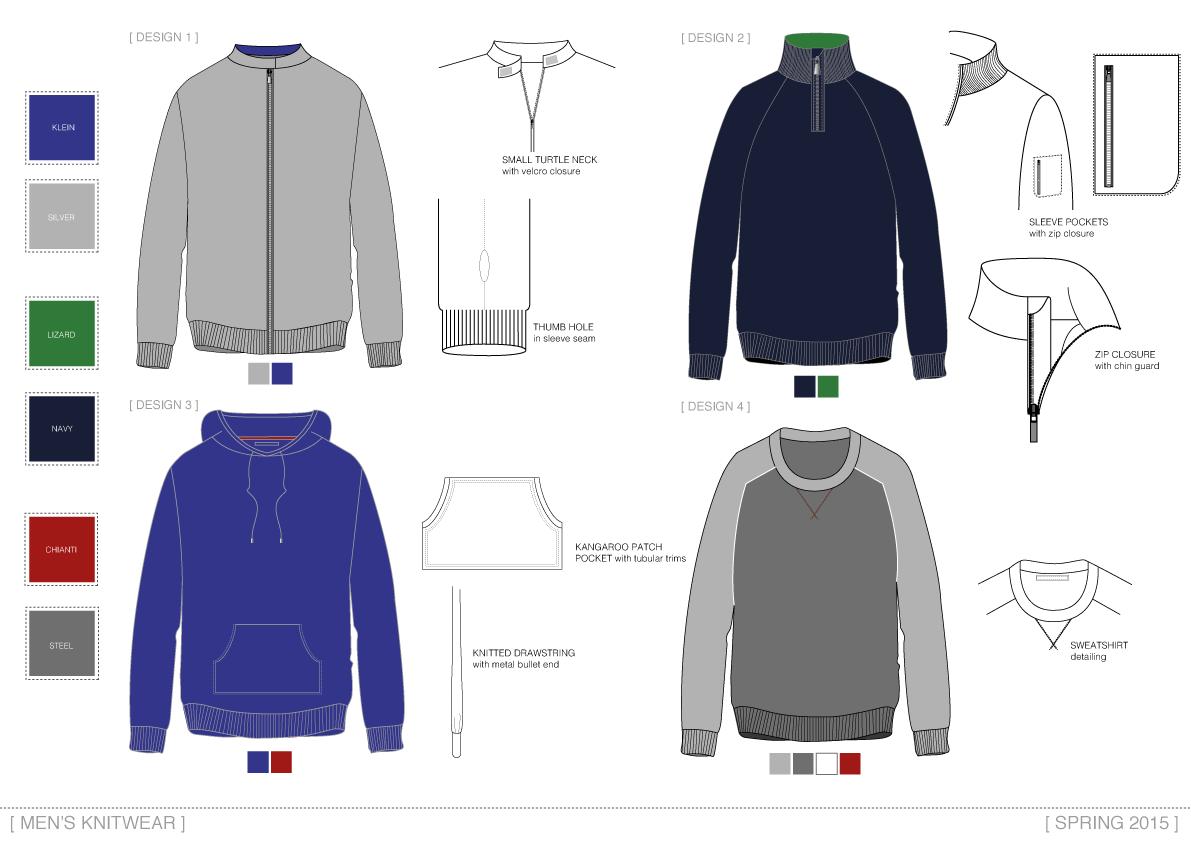 Knitwear drawings