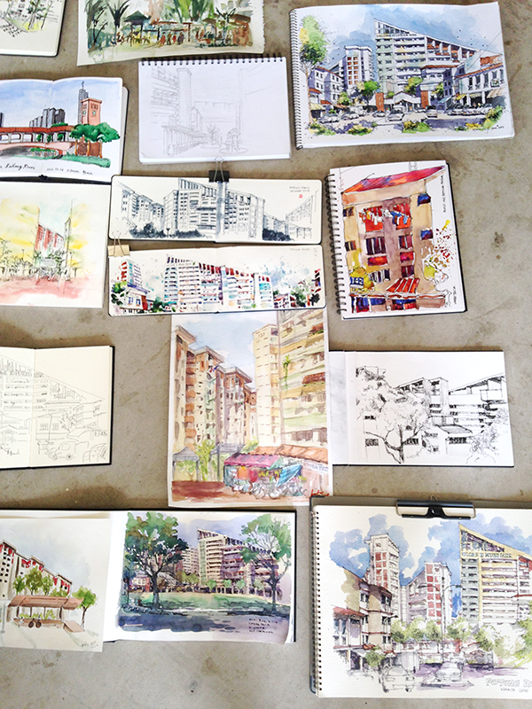 Show and tell – works from other sketchers