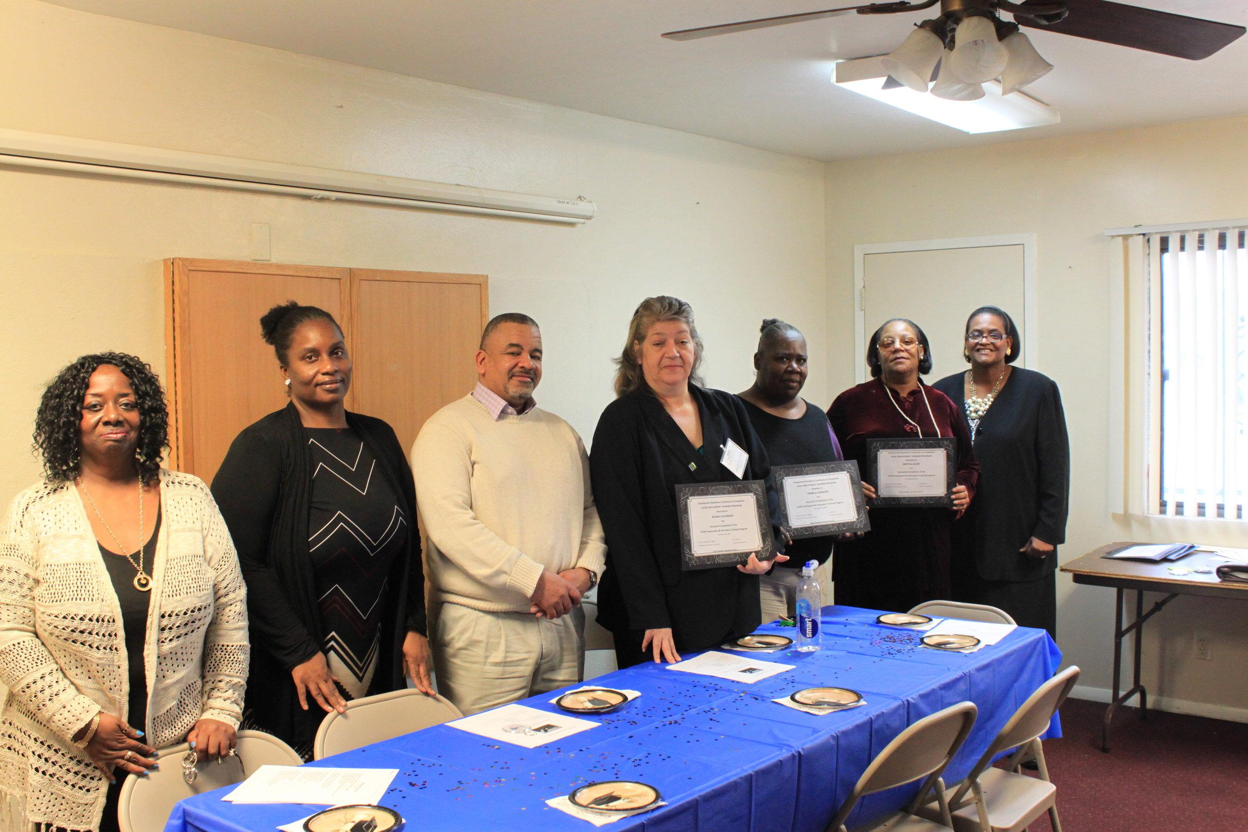 Graduation Class and Instructors, January 25, 2017