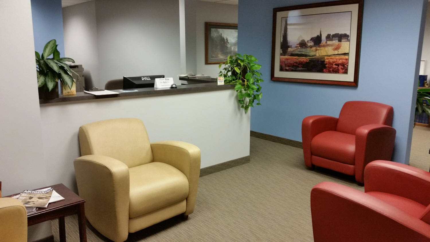 Reception area at Monaco Sanders, LLC