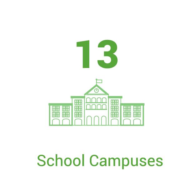 13 Universities and High Schools
