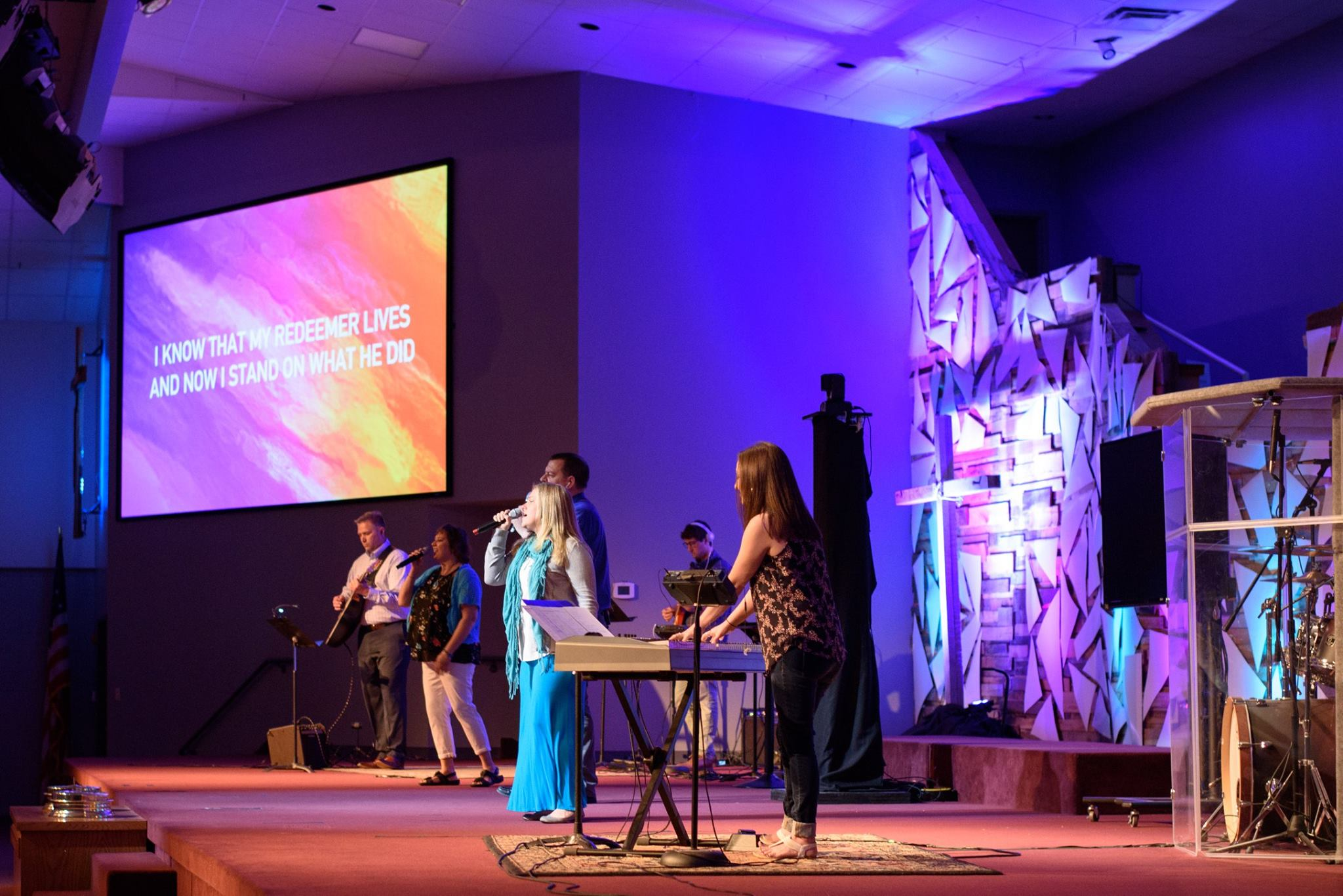 Worship - Help create an atmosphere where people can experience the presence of God. Join the Worship Team as a musician or vocalist, operate cameras, lights, screens, sound or video to help support our weekly worship gatherings.