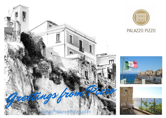 Our first postcard for our guests in pizzo!
