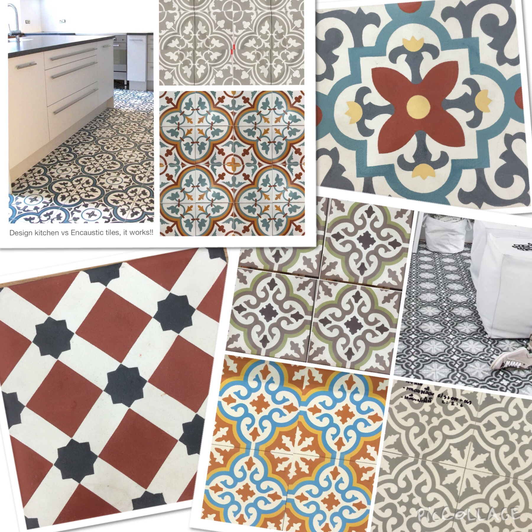 CEMENT tiles look cool with modern or antique furniture