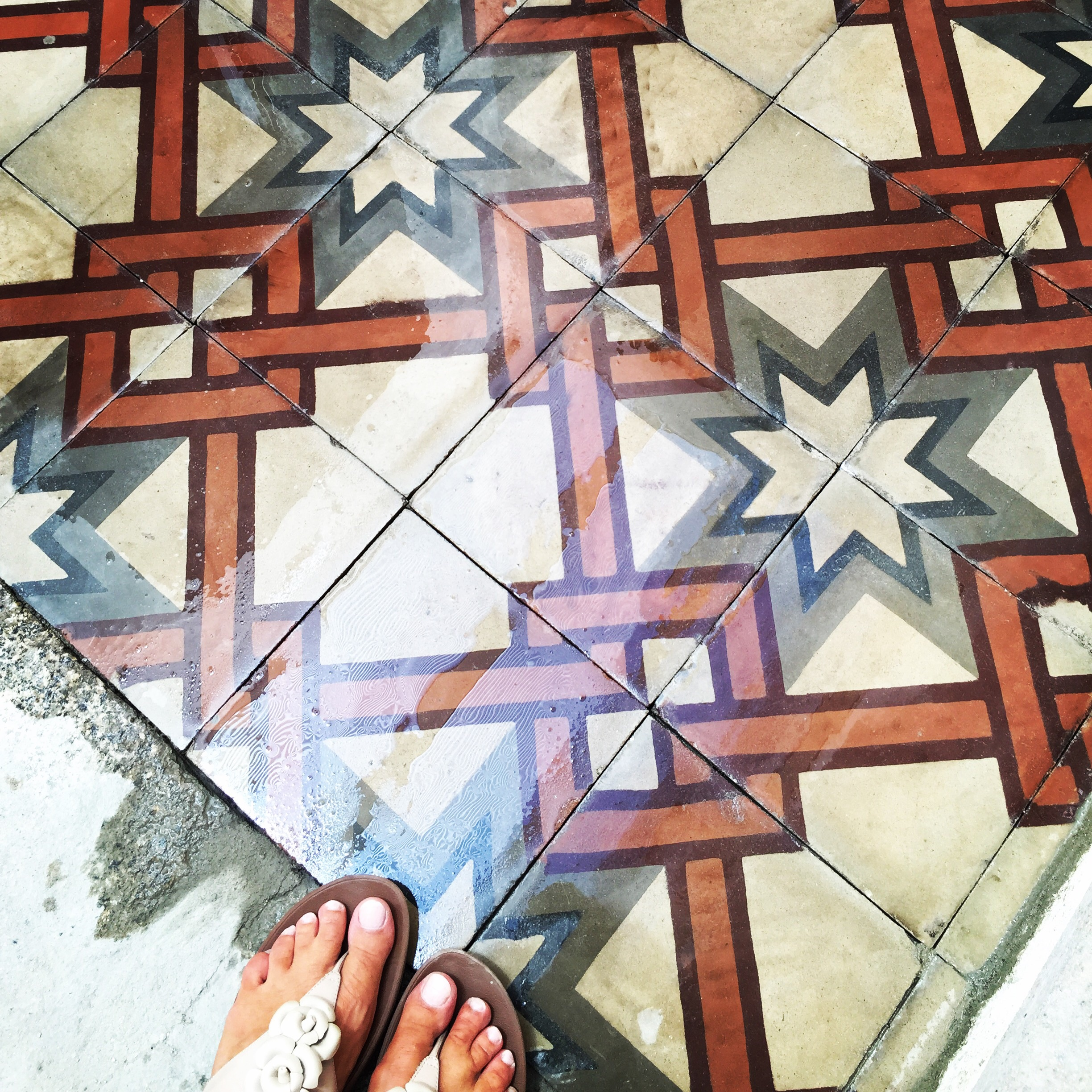 antique cement tiles from Pizzo found a new home in Pizzo!