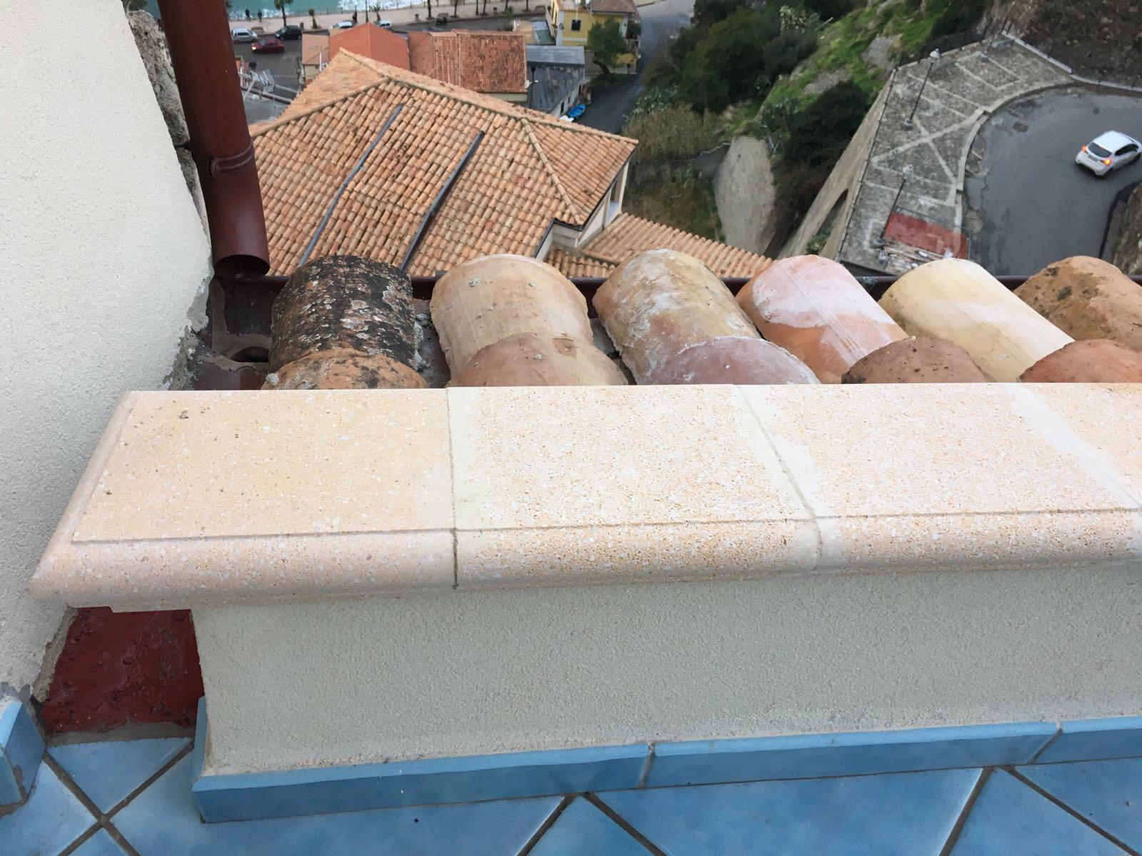 Dependance: roof terrace detail (wrought iron railing still coming)