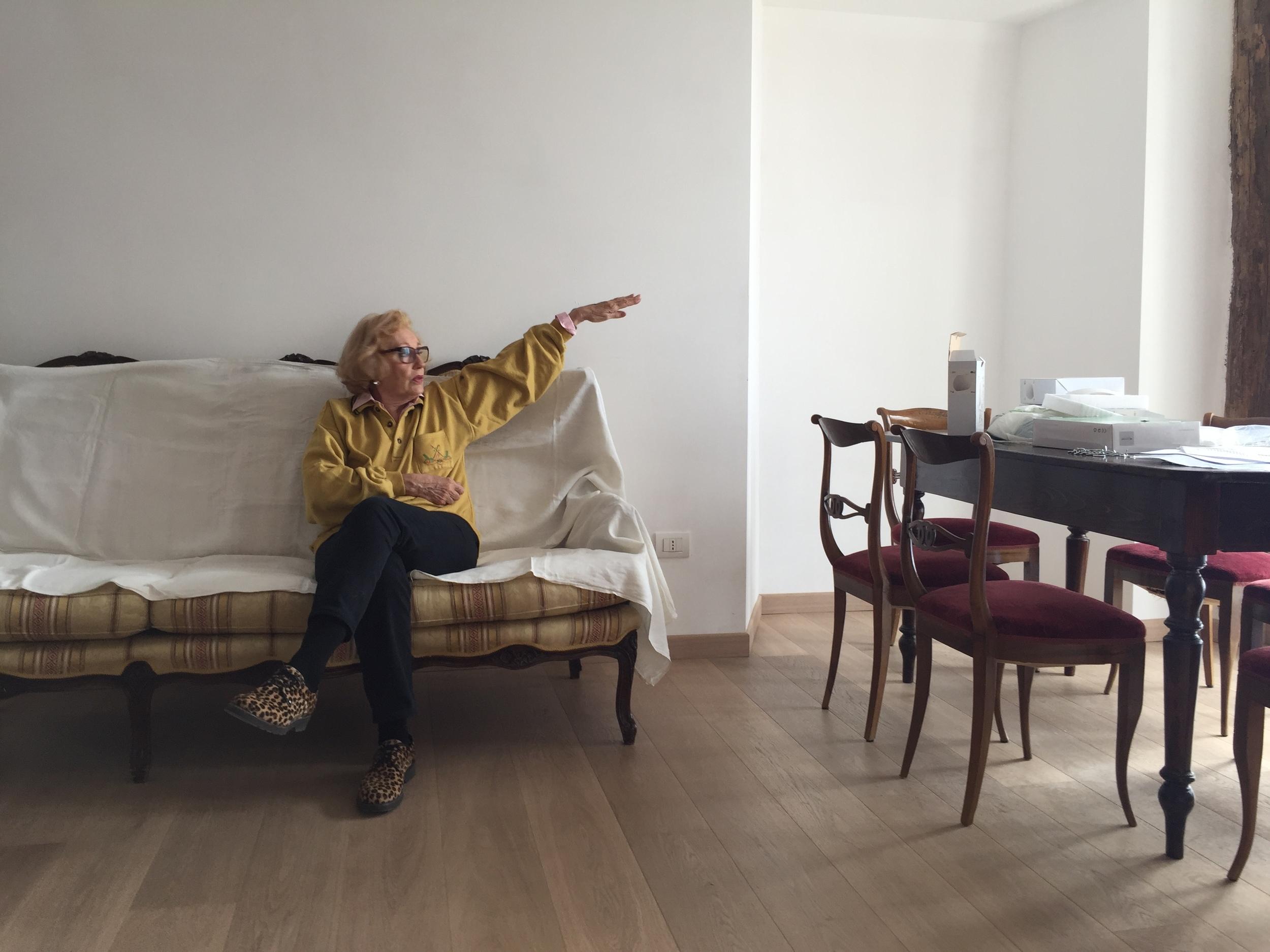 short break to discuss Furniture arrangement