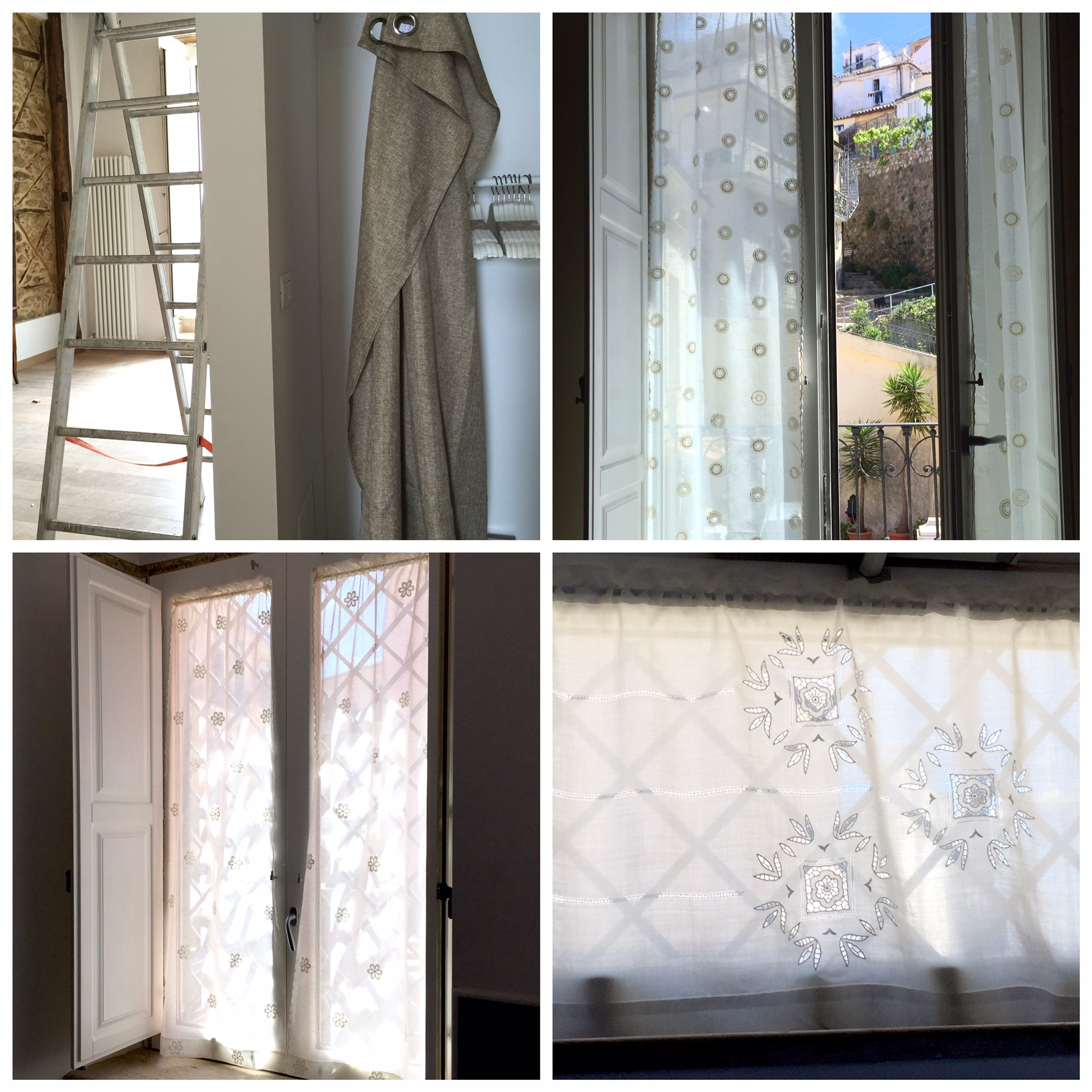 different kind of curtains (tende) where made by talented Lidia