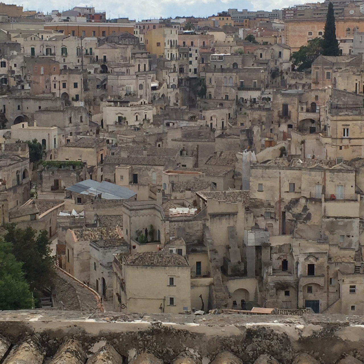 "View from our Airbnb ""Al Duomo Relais"" in Matera"