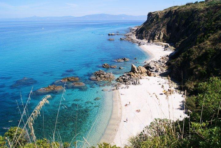 Enjoy empty beaches in and around Pizzo on the Costa degli dei